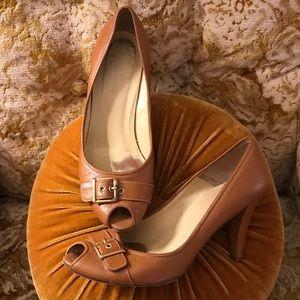 Leather Faconnable Heels- sz 8.5